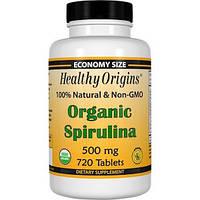 Healthy Origins, Органическая спирулина, 500 мг, 720 таблеток