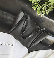 Женская сумка с ручками черная большая, фото 1