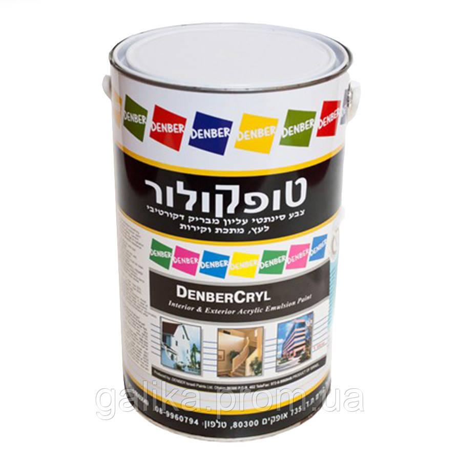 Краска высокоэластичная, вязкая для окраски наружных и внутренних стен DenberCryl Elasto 1л
