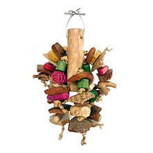 Дерев'яні іграшки для великого папугу