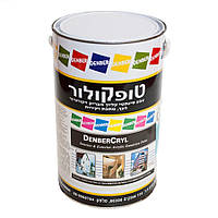 Термостойкая краска по металлу, вязкая для окраски наружных и внутренних стен DenberCryl Elasto 5л
