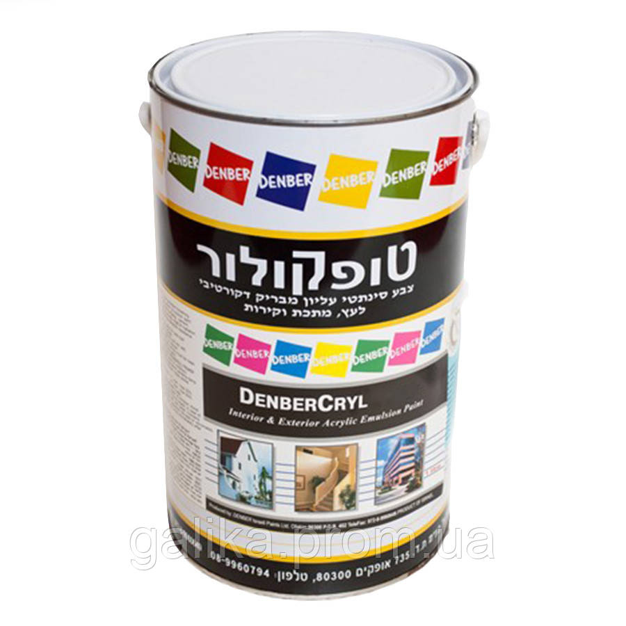 Краска высокоэластичная, вязкая для окраски наружных и внутренних стен DenberCryl Elasto 18л