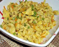 Макароны и картофель с чесноком