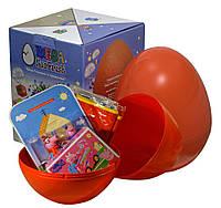 """Большое пластиковое яйцо-сюрприз с игрушками """"Свинка Пеппа Peppa Pig"""" ДЛЯ ДЕВОЧКИ"""
