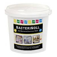 Эластичная, акриловая, антибактериальная краска - покрытие для внутренних стен Bacterinol 5л
