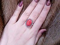 Элегантное кольцо с натуральным камнем агат в серебре. Кольцо агатом.
