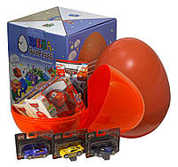 """Большое пластиковое яйцо-сюрприз с игрушками """"Тачки"""""""