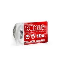 Губка для посуды металлическая Bonus 10 шт в уп.