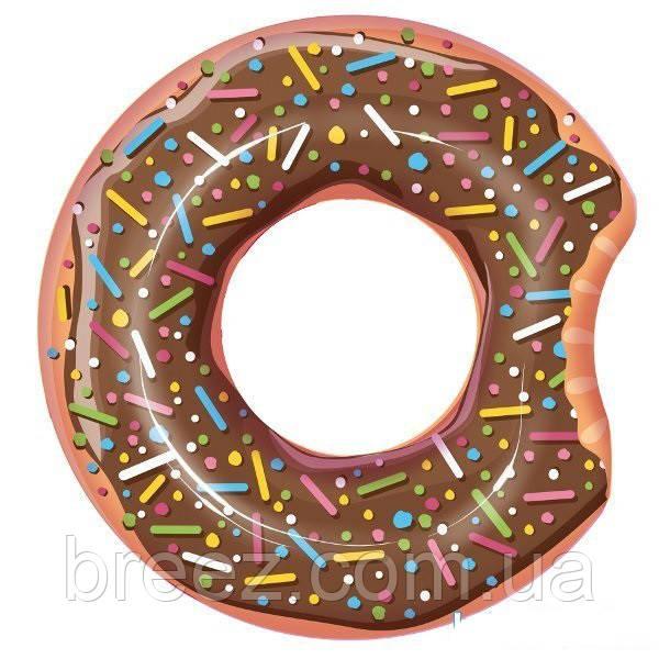 Надувной круг для плавания Bestway Пончик коричневый107 см