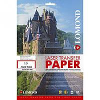 Термотрансферная бумага для лазерной печати, используется для светлых тканей, A4, 150 г/м2, 10 листов.