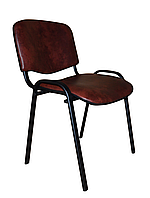 Офисный стул ISO black S-61 винилискожа коричневый