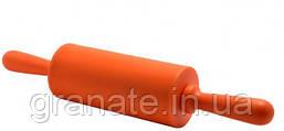 Скалка силиконовая с вращающимися ручками 23 см