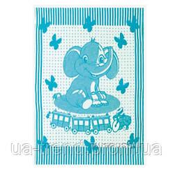 Детское одеяло полушерсть 100х140см Слоник