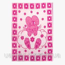 Детское полушерстяное одеяло 100х140см зайчик