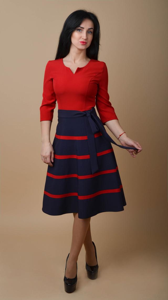 b6ef6eec96b6 Женское платье из костюмного крепа размеры:44,52 - Bigl.ua