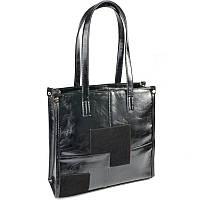 Женская комбинированная сумка-шоппер Камелия М102-33/замш, фото 1