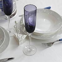 Комплект бокалов для шампанского 2 шт. фиолетовый