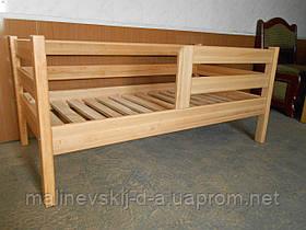 Кроватка нат. дерево 80*160  Нотка