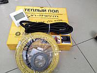 Электрический нагревательный кабель In-term для ванной комнаты, 13,9 м2 (Акционная цена с цифровым регулятором