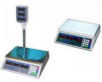 Торговые настольные электронные весы 45кг на металлической платформой с таблом