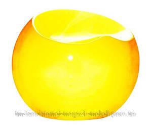 Пуф Рензо желтый, пластик абс