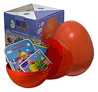 """Большое пластиковое яйцо мега-сюрприз с игрушками """"Свинка Пеппа Peppa Pig"""" ДЛЯ МАЛЬЧИКА"""