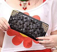 Женский черный кошелек-клатч Fancy , фото 1