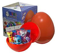 """Большое пластиковое яйцо-сюрприз с игрушками """"Пони"""""""