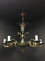 Антикварная бронзовая люстра ампир светильник старинная люстра