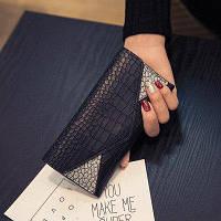 Женский черный кошелек Reptile , фото 1