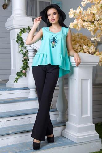 Блуза Honey голубой (M,L,XL,XXL)
