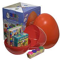 """Большое пластиковое яйцо мега-сюрприз с набором для лепки """"Творчество"""""""