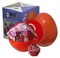 """Большое пластиковое яйцо-сюрприз с игрушками """"Девочке"""""""