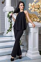 Блуза Флейта черный (S-M,L-XL)