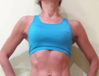 Топ для занятий фитнесом Maraton голубой, фото 2