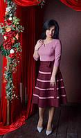 Красивое молодежное платье из костюмного крепа размер 44-52