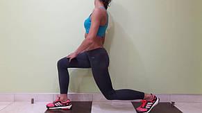 Комплект для фитнеса  женский Maraton  голубой топ+лосины , фото 2