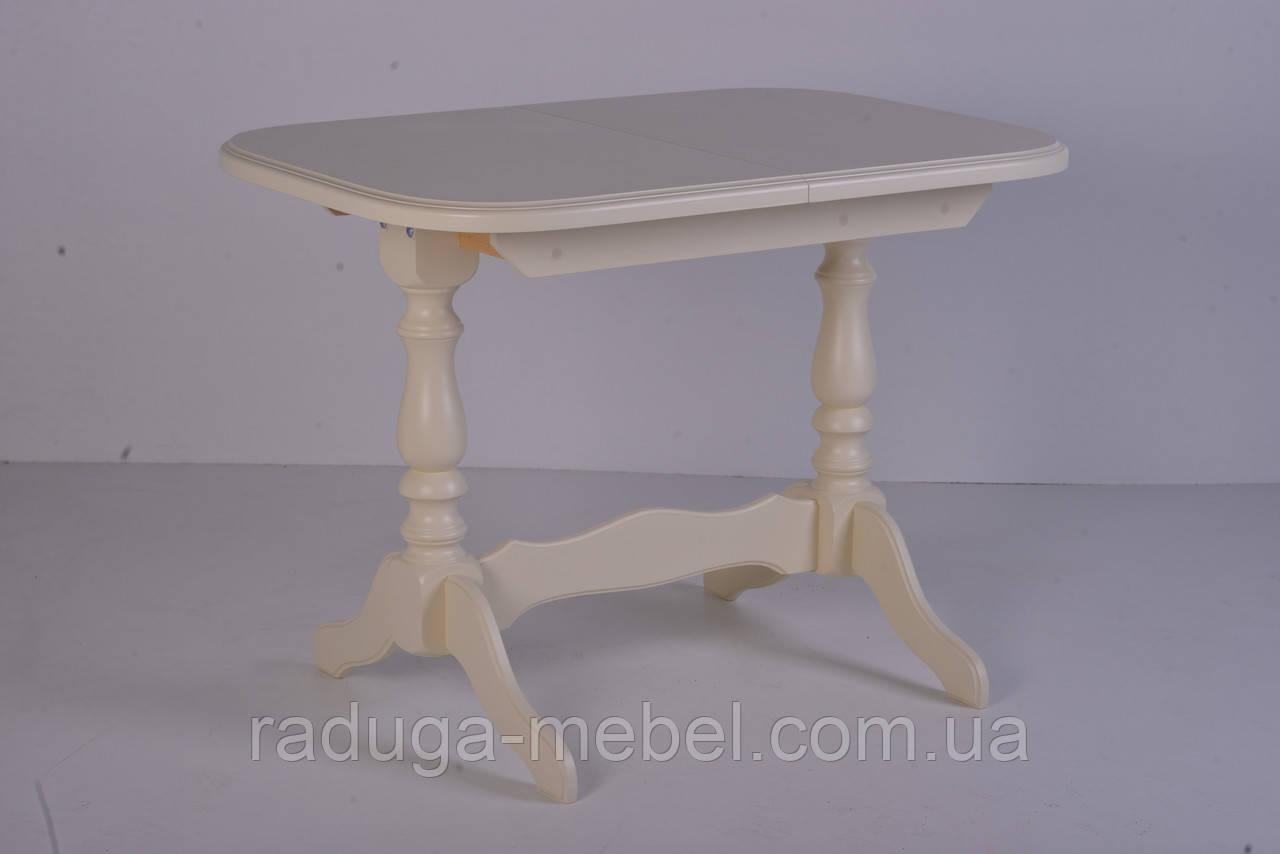 Стол деревянный Аврора на 2 ногах ( слоновая кость )