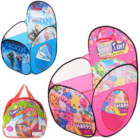 Детская игровая палатка-манеж с баскетбольным кольцом M 3751