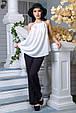 Блуза Флейта белый (S-M,L-XL), фото 3