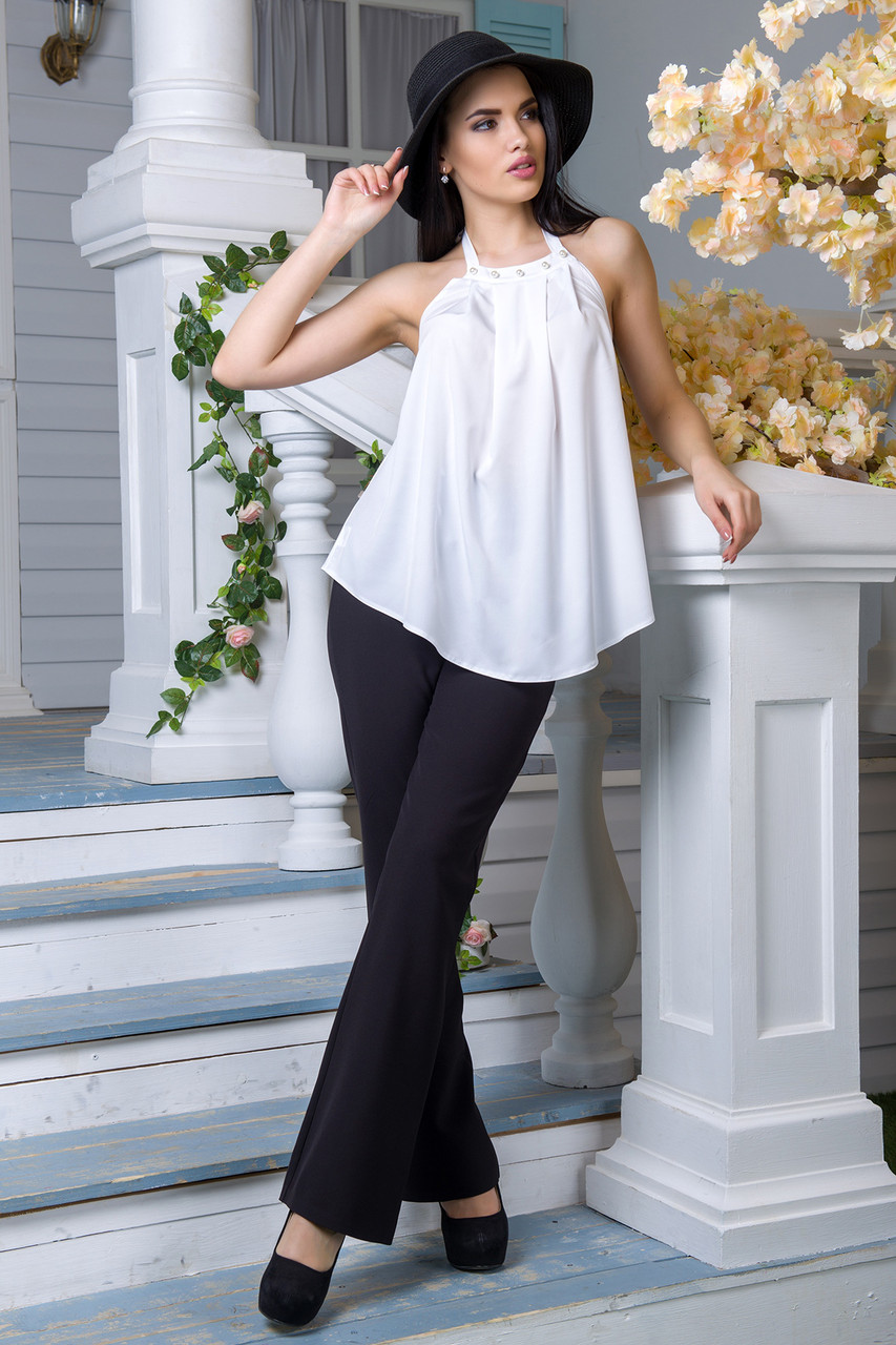 Блуза Флейта белый (S-M,L-XL)