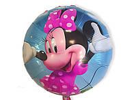 Фольгированный шар Минни Маус в розовом