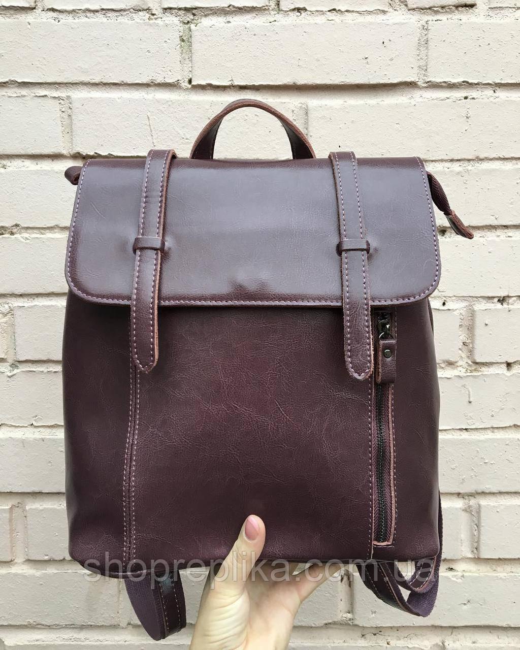 Кожа рюкзак сумка трансформер темно коричневый , Натуральная кожа , фото 1