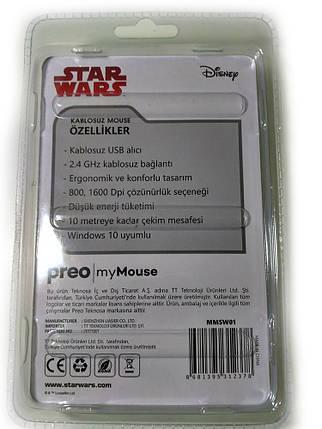 Беспроводная оптическая мышка мышь slim 2.4 GHz MHZ STAR WARS Black, фото 2
