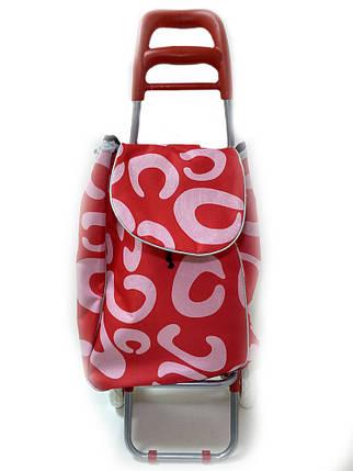 Тачка сумка с колесиками кравчучка 96см MH-1900 Red, фото 2