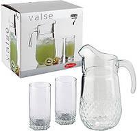 Набор стаканов для сока с графином (7 пр.) Pasabahce Valse 97675