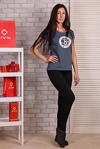 Лосины женские для фитнеса Kenalin 9605-9 XL-2XL. Размер 48-54. Черные.