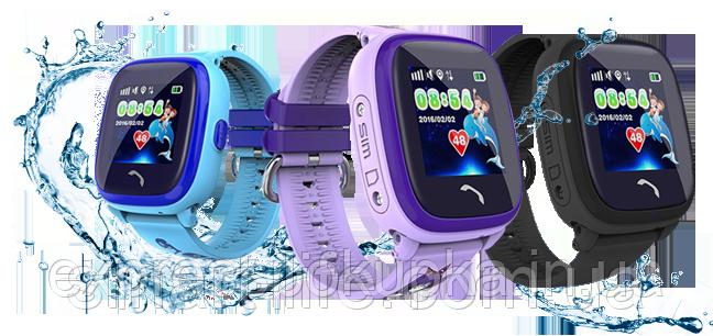 Водонепроникні Розумні Дитячі Годинник з GPS трекером Smart Baby Watch DF25 (Q100 Aqua/Q300)