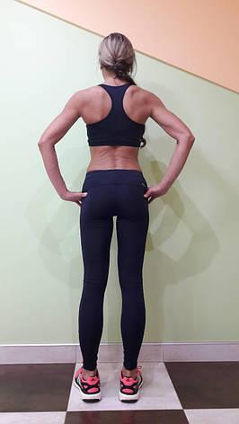 Комплект для фитнеса  женский Maraton  темно-синий топ+лосины , фото 2