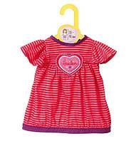 Платье в полосочку для куклы BABY BORN 38-46 см***